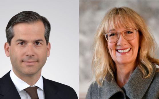 Filippo Rima, Leiter Aktien bei Credit Suisse Asset Management & Marisa Drew, CEO des Impact Advisory and Finance Department (IAF) der Credit Suisse / © Credit Suisse